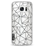 Casetastic Softcover Samsung Galaxy S7 - Abstraction Outline Black Transparent