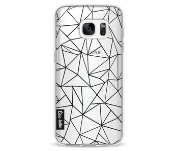 Abstraction Outline Black Transparent - Samsung Galaxy S7