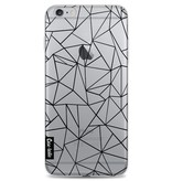 Casetastic Softcover Apple iPhone 6 Plus / 6s Plus - Abstraction Outline Black Transparent