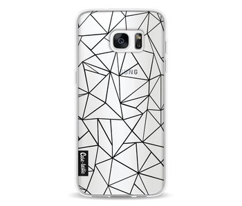 Abstraction Outline Black Transparent - Samsung Galaxy S7 Edge