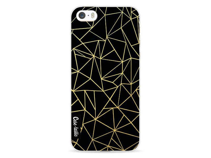 Casetastic Softcover Apple iPhone 5 / 5s / SE - Abstraction Outline Gold