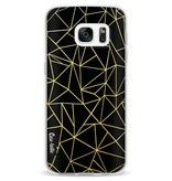 Casetastic Softcover Samsung Galaxy S7 - Abstraction Outline Gold