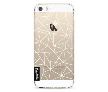 Abstraction Outline White Transparent - Apple iPhone 5 / 5s / SE