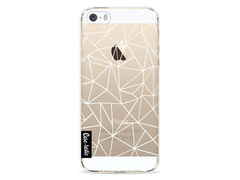 Casetastic Softcover Apple iPhone 5 / 5s / SE - Abstraction Outline White Transparent