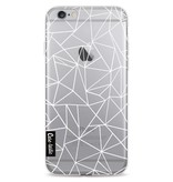 Casetastic Softcover Apple iPhone 6 / 6s  - Abstraction Outline White Transparent