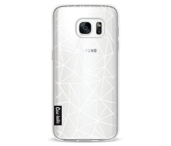 Abstraction Outline White Transparent - Samsung Galaxy S7