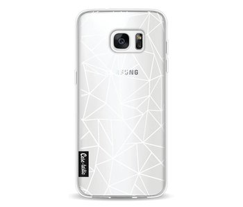 Abstraction Outline White Transparent - Samsung Galaxy S7 Edge