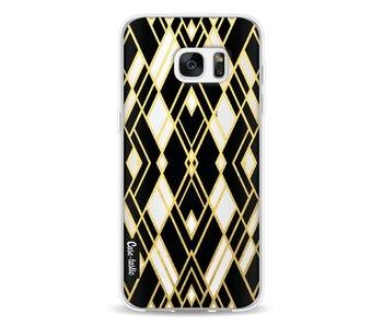 Art Deco Gold Black Transparent - Samsung Galaxy S7 Edge