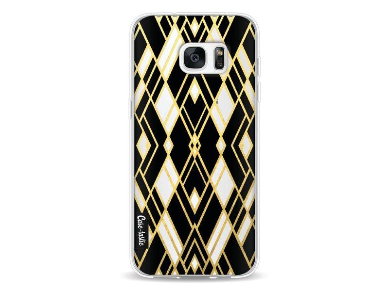 Casetastic Softcover Samsung Galaxy S7 Edge - Art Deco Gold Black Transparent