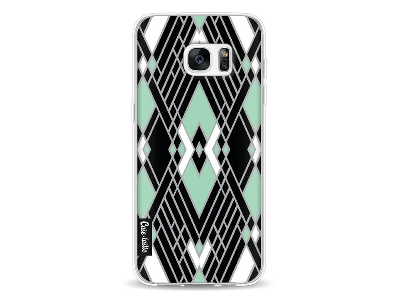 Casetastic Softcover Samsung Galaxy S7 Edge - Art Deco Mint
