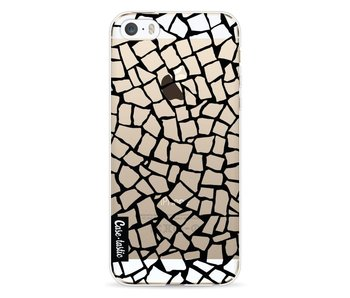 British Mosaic Black Transparent - Apple iPhone 5 / 5s / SE