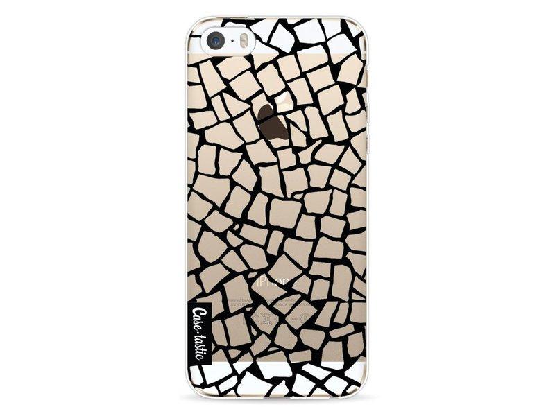 Casetastic Softcover Apple iPhone 5 / 5s / SE - British Mosaic Black Transparent