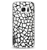 Casetastic Softcover Samsung Galaxy S7 - British Mosaic Black Transparent