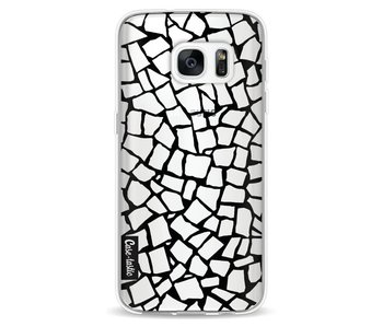 British Mosaic Black Transparent - Samsung Galaxy S7
