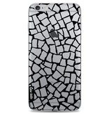 Casetastic Softcover Apple iPhone 6 Plus / 6s Plus - British Mosaic Black Transparent