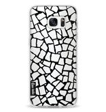 Casetastic Softcover Samsung Galaxy S7 Edge - British Mosaic Black Transparent