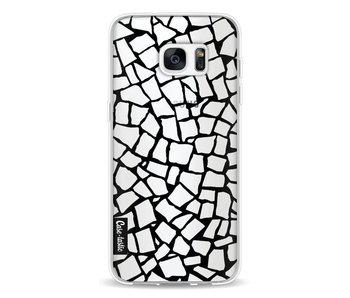 British Mosaic Black Transparent - Samsung Galaxy S7 Edge