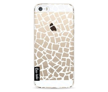 British Mosaic White Transparent - Apple iPhone 5 / 5s / SE