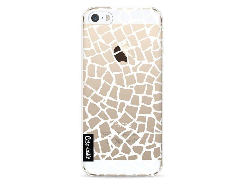 Casetastic Softcover Apple iPhone 5 / 5s / SE - British Mosaic White Transparent