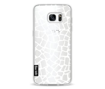 British Mosaic White Transparent - Samsung Galaxy S7 Edge