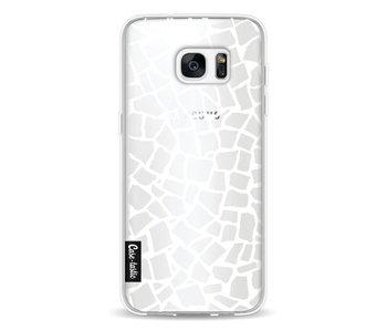 British Mosaic White Transparent - Samsung Galaxy S7 Edge