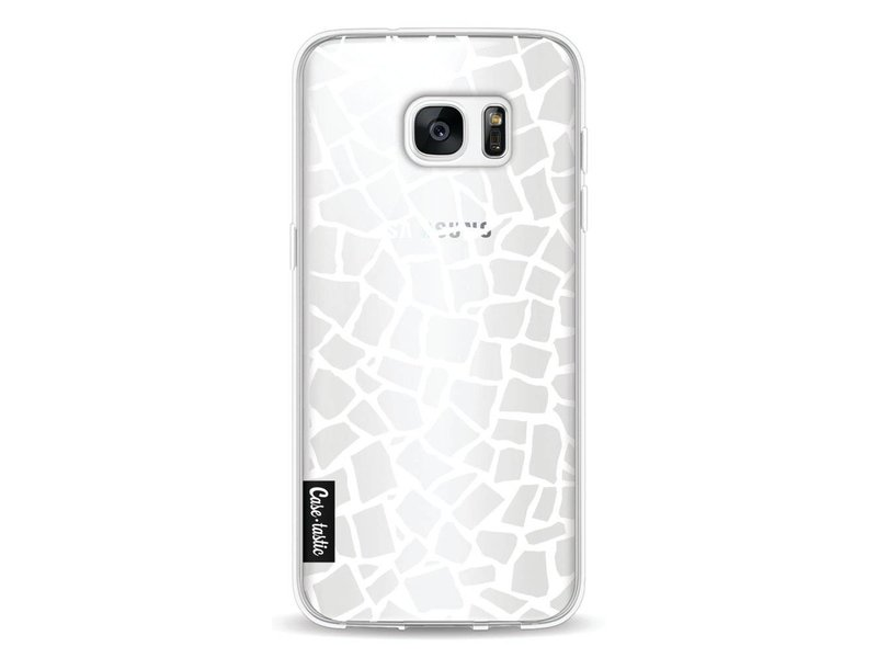 Casetastic Softcover Samsung Galaxy S7 Edge - British Mosaic White Transparent