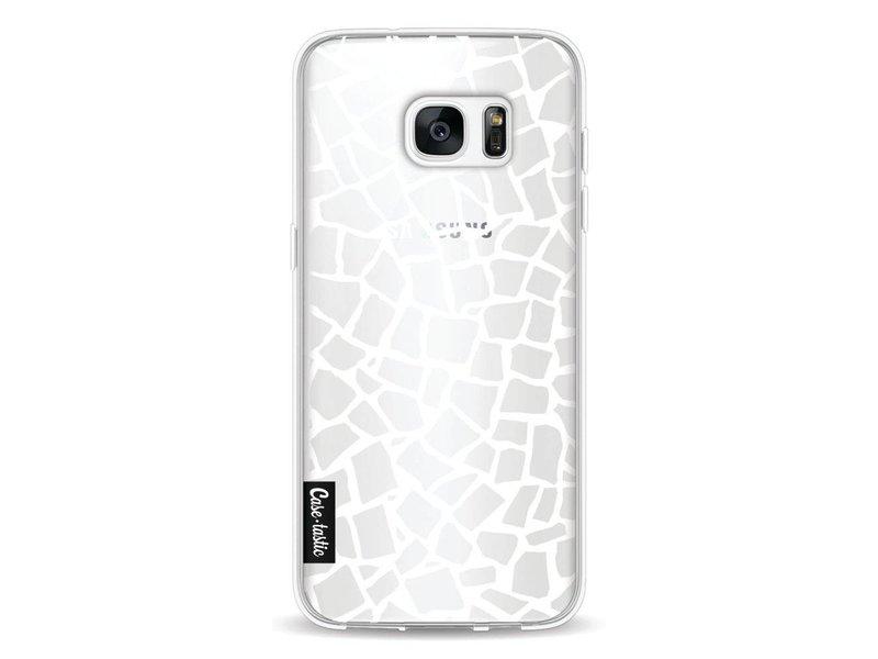 Casetastic Softcover Samsung Galaxy S7 Edge - British Mosaic White Transparent