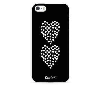 Hearts Heart 2 Black - Apple iPhone 5 / 5s / SE