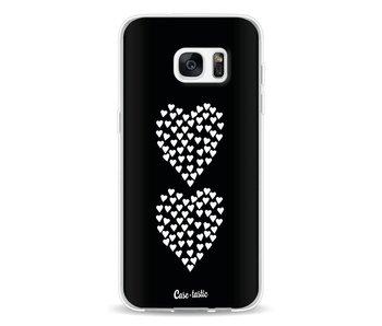 Hearts Heart 2 Black - Samsung Galaxy S7 Edge