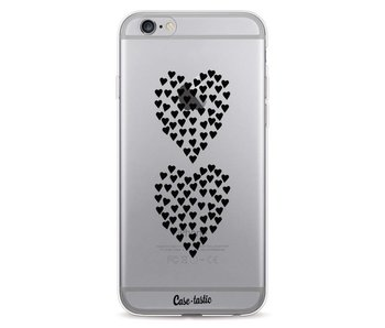 Hearts Heart 2 Black Transparent - Apple iPhone 6 / 6s