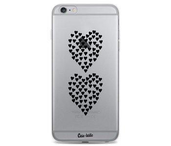 Hearts Heart 2 Black Transparent - Apple iPhone 6 Plus / 6s Plus
