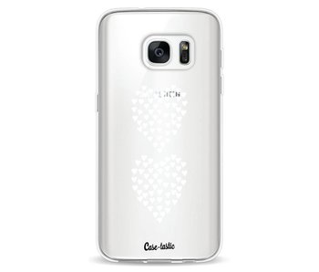 Hearts Heart 2 White Transparent - Samsung Galaxy S7