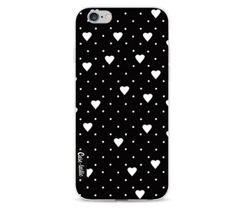 Pin Point Hearts Black - Apple iPhone 6 / 6s