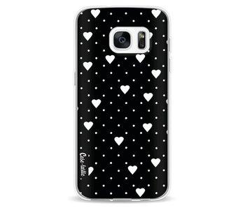 Pin Point Hearts Black - Samsung Galaxy S7