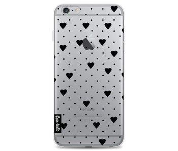 Pin Point Hearts Black Transparent - Apple iPhone 6 Plus / 6s Plus