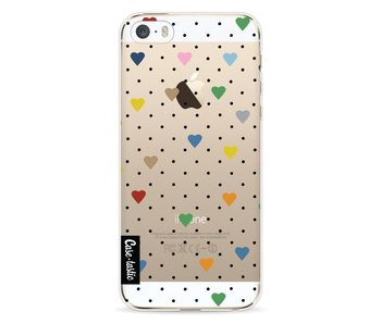 Pin Point Hearts Transparent - Apple iPhone 5 / 5s / SE