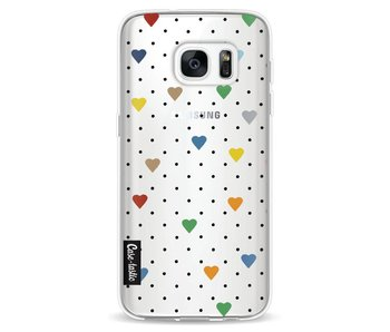 Pin Point Hearts Transparent - Samsung Galaxy S7