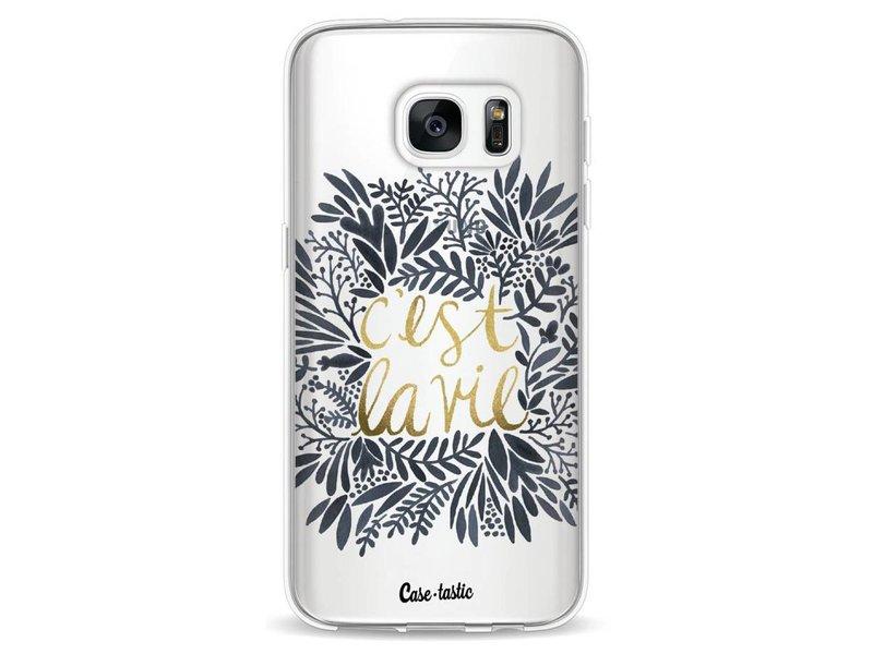 Casetastic Softcover Samsung Galaxy S7 - Cest La Vie BlackGold