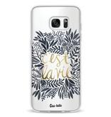 Casetastic Softcover Samsung Galaxy S7 Edge - Cest La Vie BlackGold