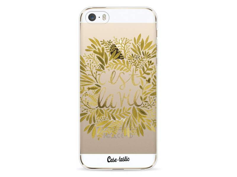 Casetastic Softcover Apple iPhone 5 / 5s / SE - Cest La Vie Gold