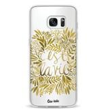 Casetastic Softcover Samsung Galaxy S7 Edge - Cest La Vie Gold