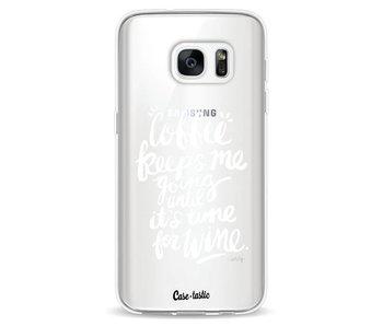Coffee Wine White Transparent - Samsung Galaxy S7