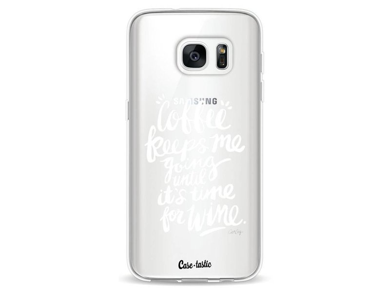 Casetastic Softcover Samsung Galaxy S7 - Coffee Wine White Transparent