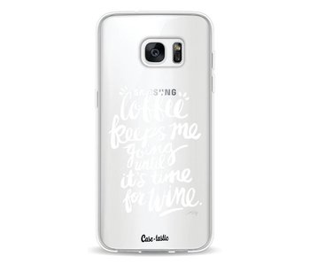 Coffee Wine White Transparent - Samsung Galaxy S7 Edge