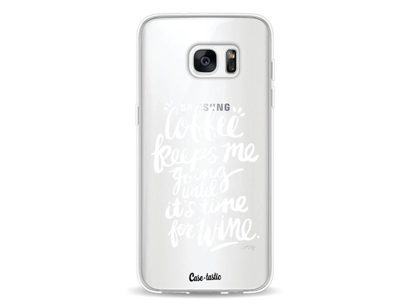 Casetastic Softcover Samsung Galaxy S7 Edge - Coffee Wine White Transparent