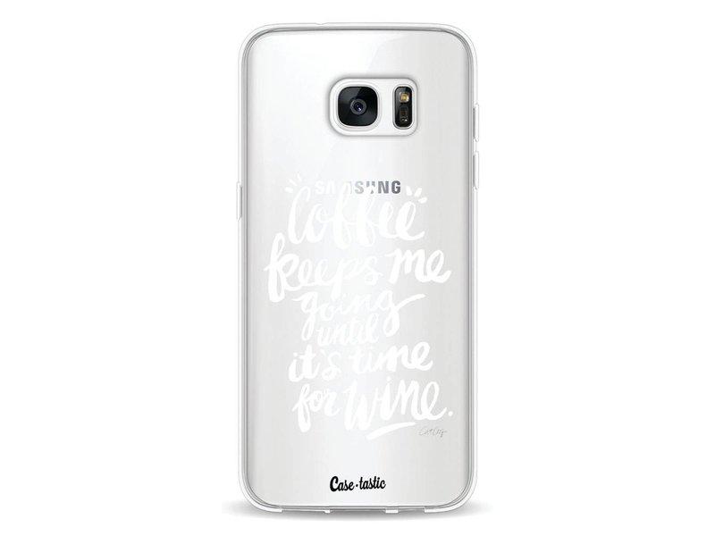 Casetastic Softcover Samsung Galaxy S7 Edge - Coffee Wine White Transparent