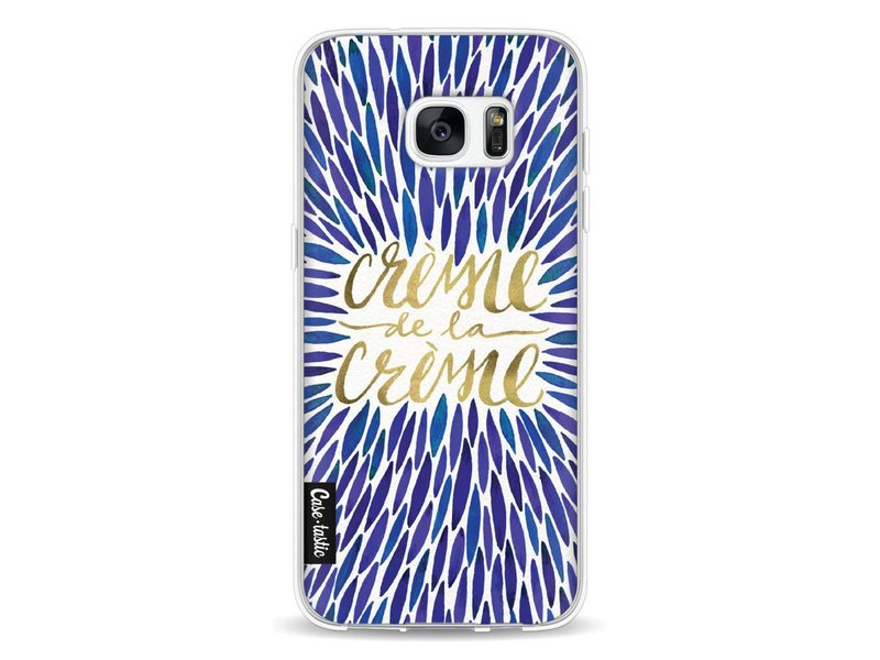 Casetastic Softcover Samsung Galaxy S7 Edge - Creme de la Creme Navy
