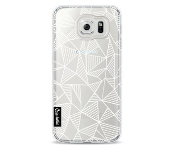 Abstraction Lines White Transparent - Samsung Galaxy S6