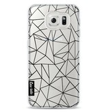Casetastic Softcover Samsung Galaxy S6 - Abstraction Outline Black Transparent