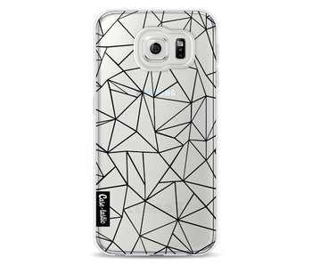 Abstraction Outline Black Transparent - Samsung Galaxy S6